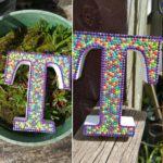 декоративные буквы, украшенные стразами